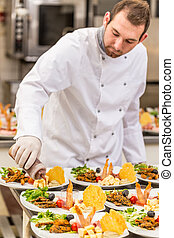 cuoco, chef, maschio
