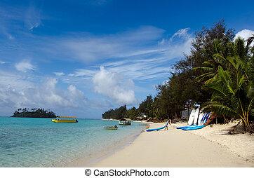 cuoco, muri, rarotonga, laguna, isole