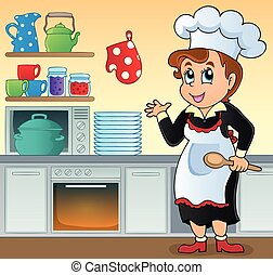 cuoco, topic, immagine, 1, femmina