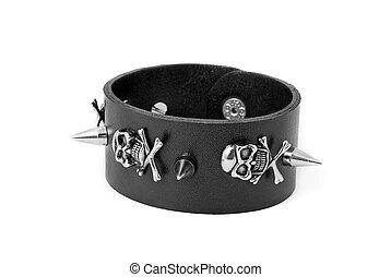 cuoio, braccialetto