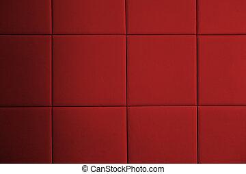 cuoio, modello, parete rossa