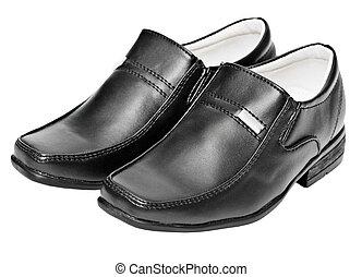 cuoio, nero, scarpe