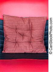 cuoio, red-black, cuscino
