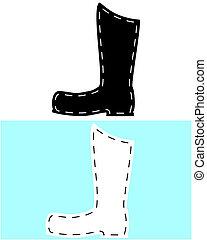 cuoio, stivali