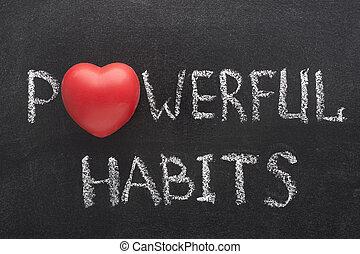 cuore, abitudini, potente