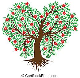 cuore, albero, forma