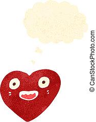 cuore, amore, cartone animato, carattere
