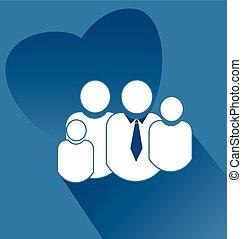 cuore, amore, famiglia, appartamento, logotipo, icona