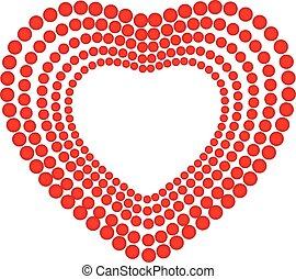 cuore, amore, logotipo