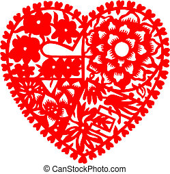cuore, amore, papercutting