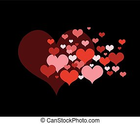 cuore, amore, rosso
