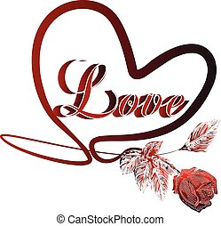cuore, amore, valentines, scheda
