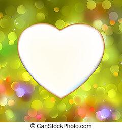 cuore, astratto, eps, yellow., 8, scheda