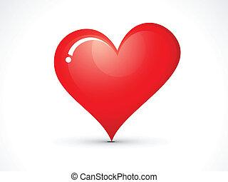 cuore, astratto, icona