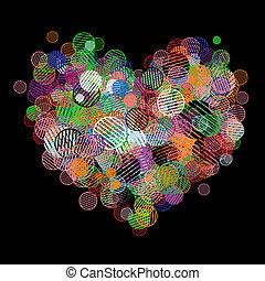 cuore, astratto, tuo, disegno, forma