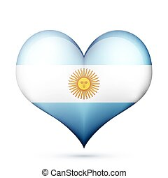 cuore, bandiera argentina, icona