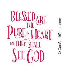 cuore, benedetto, puro