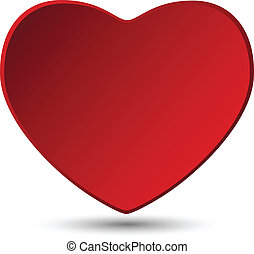 cuore, bianco, giorno, fondo, valentina