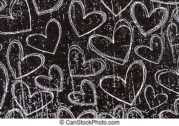 cuore, biscotti, giorno valentines, caramella