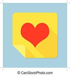 cuore, blocco note