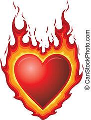 cuore, bruciatura