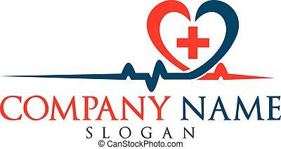 cuore, buono, applauso, cardiogramma, pressione, vettore,...
