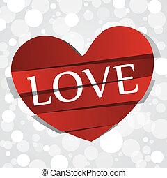 cuore, carta, amore, rosso