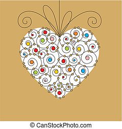 cuore, cartolina auguri