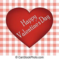 cuore, cartolina, valentina, s, giorno, rosso