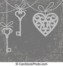 cuore, chiave scheletro