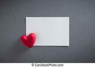 cuore, cioccolati, spazio, cima, giorno valentines, forma, carta, fondo, vista., copia, bianco rosso