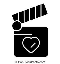 cuore, concetto, amore, battaglio, simbolo., asse, design.