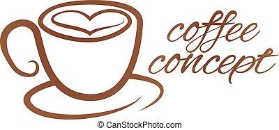 cuore, concetto, amore, coffe foggiano coppa