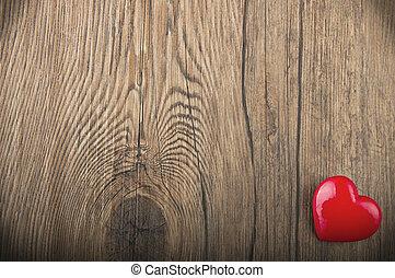 cuore, concetto, amore, valentines, struttura, fondo, legno, giorno, scheda