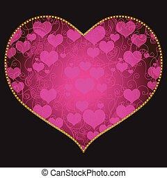 cuore, cornice, forma