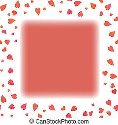 cuore, cornice, rosso