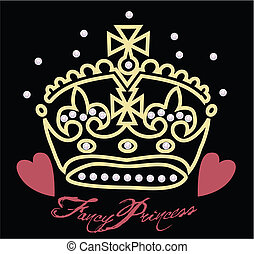 cuore, corona, illustrazione