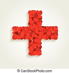 cuore, croce, segno