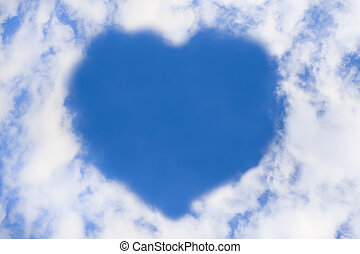 cuore, da, nuvola