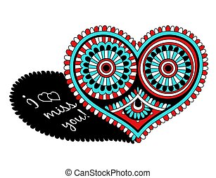 cuore, day., openwork, valentines