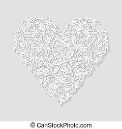 cuore, decorato