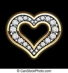 cuore, diamanti