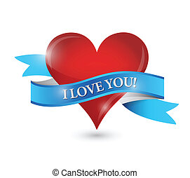cuore, disegno, amore, lei, illustrazione