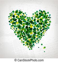 cuore, disegno astratto, forma, tuo