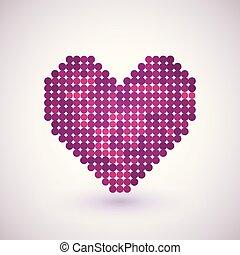 cuore, effetto, halftone