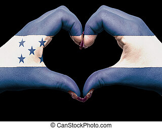 cuore, fatto, honduras, turista, simbolo, bandiera, perù,...