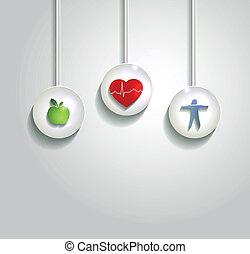 cuore, fondo, cura, salute, wellness, concetto