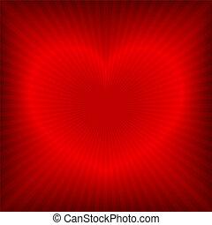 cuore, fondo, rosso