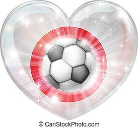 cuore, giappone, calcio, bandiera