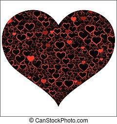 cuore, giorno, colorito, valentine